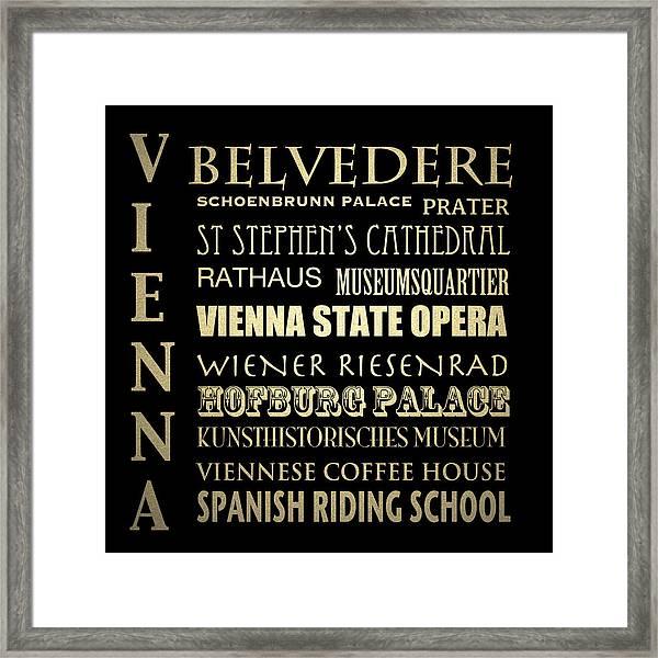 Vienna Austria Famous Landmarks Framed Print