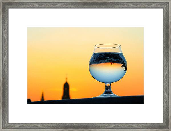 Vienna - Sunset In A Glass Framed Print
