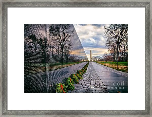 Vietnam War Memorial, Washington, Dc, Usa Framed Print