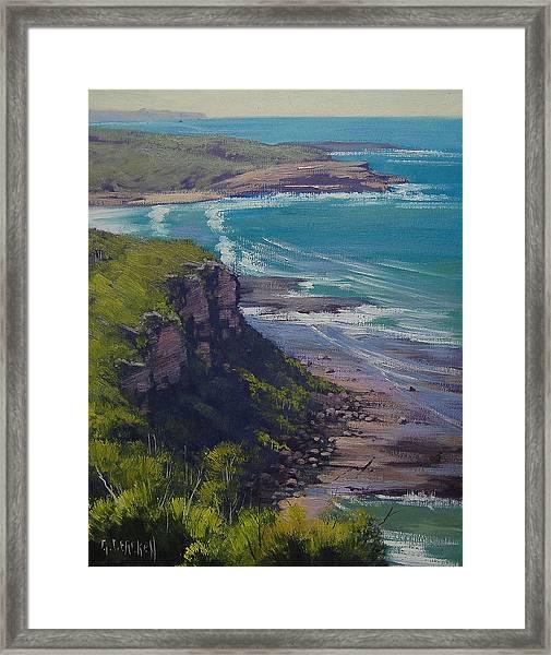 View Across Frazer Beach  Nsw Australia Framed Print