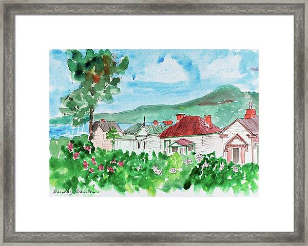 View From Battery Point Framed Print