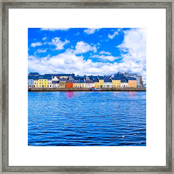 View From Claddagh Quay - Galway Framed Print