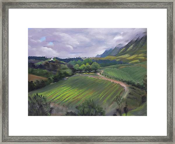 View From Creation Winery Framed Print