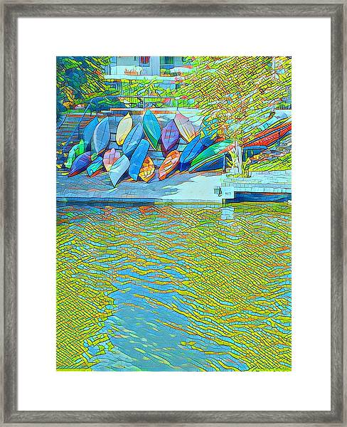View From East Side Boardwalk Framed Print