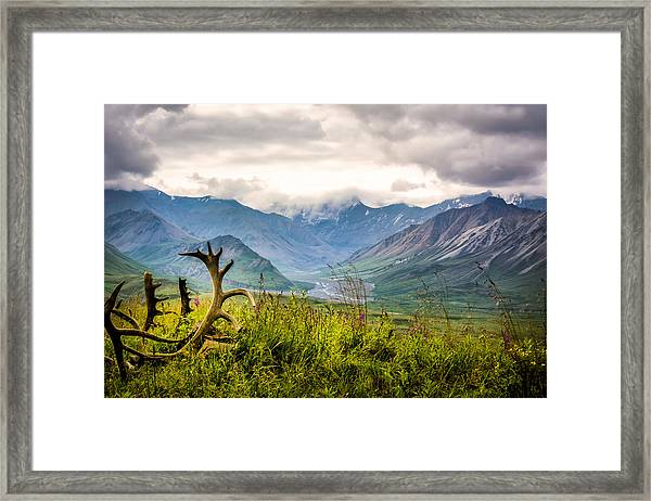 Framed Print featuring the photograph View From Eielson by Claudia Abbott