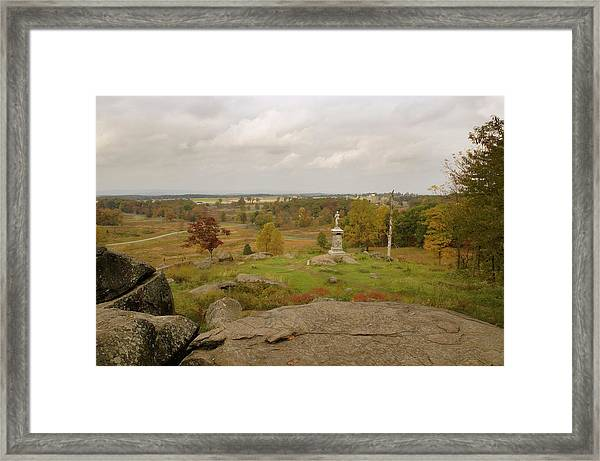 View From Little Round Top 2 Framed Print
