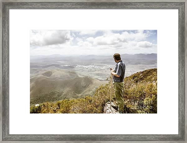 View From Mt Zeehan Tasmania Framed Print