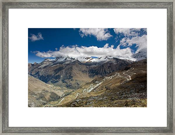 View From Portachuelo Pass Framed Print