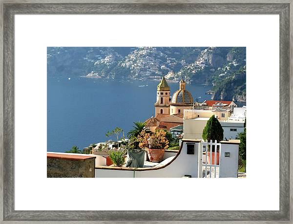 View From Praiano To Positano Framed Print