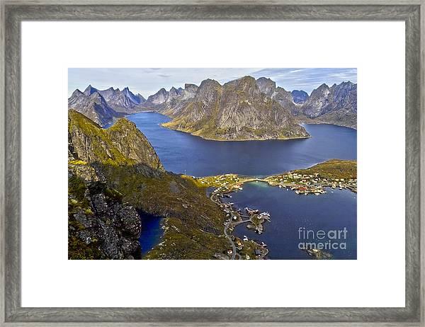 View From Reinebringen Framed Print