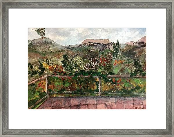 View From The Deck Framed Print