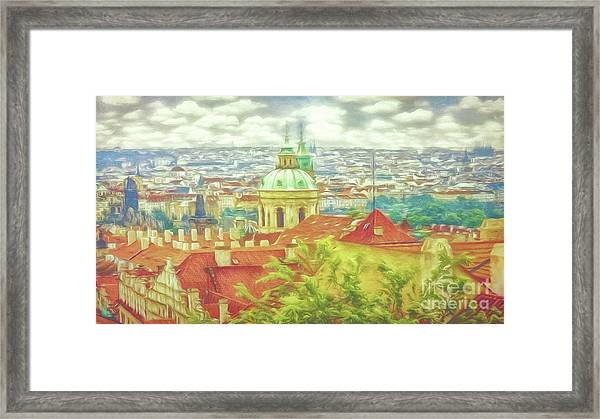 View From The High Ground - Prague  Framed Print