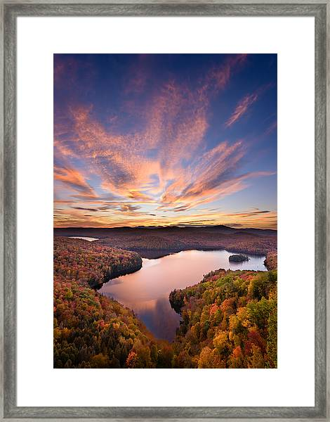 View From The Ledge Framed Print