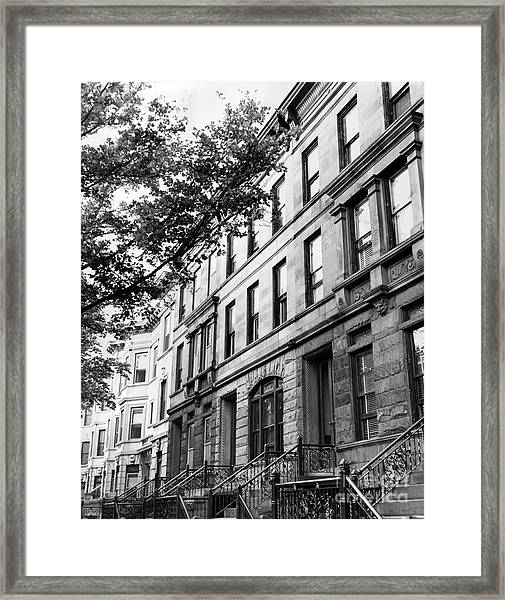View Of Beautiful Building In Manhattan New York. 1952. Framed Print