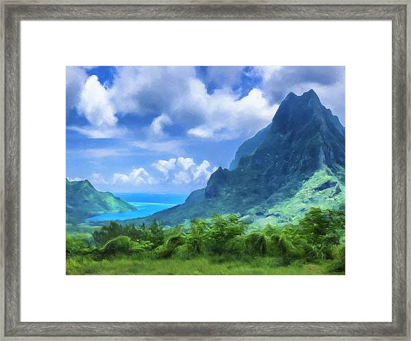 View Of Cook's Bay Mo'orea Framed Print