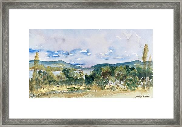 View Of D'entrecasteaux Channel From Birchs Bay, Tasmania Framed Print