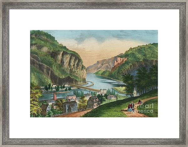 View Of Harpers Ferry, Virginia Framed Print