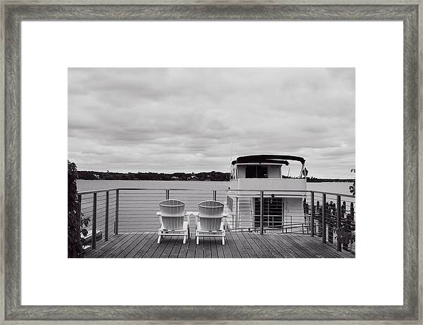 View Of Lake Minnetonka Framed Print