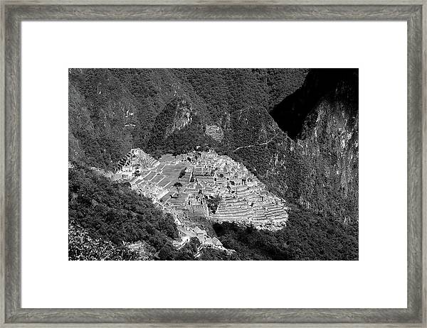 View Of Machu Picchu From The Inca Trail Framed Print