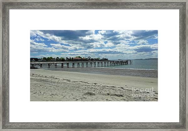 View Of Pier. Fisherman's Beach, Swampscott, Ma Framed Print