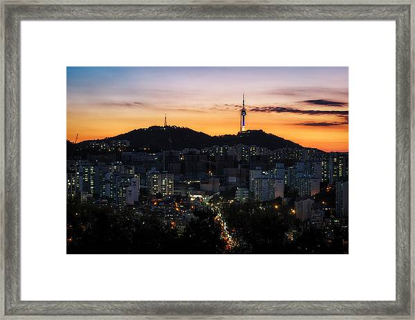 View Of Seoul N Tower Framed Print