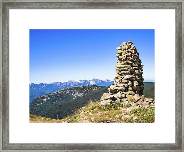 View Of The Apuan Alps Framed Print