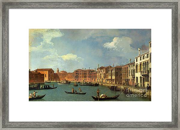 View Of The Canal Of Santa Chiara Framed Print