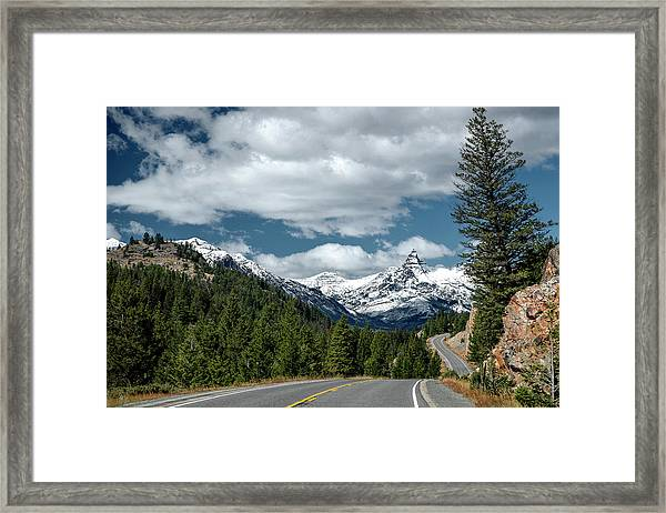 View Of The Pilot Peak From Highway 212 Framed Print