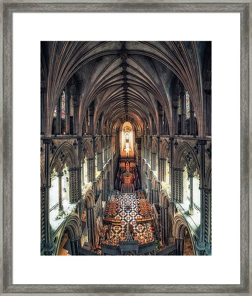 View Through Ely Cathedral Framed Print