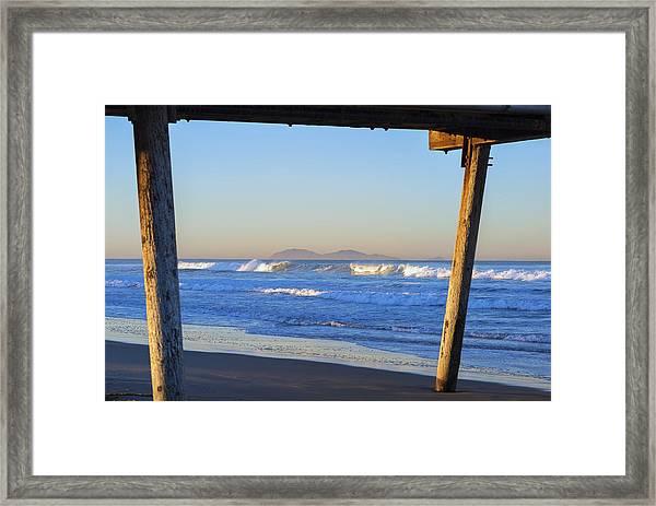 View Through The Pier Framed Print
