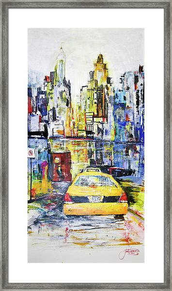 View To Manhattan Framed Print