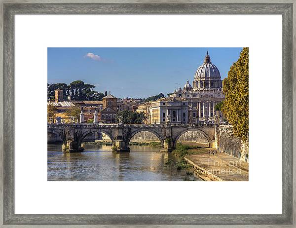 View Towards Saint Peter's Basilica Framed Print