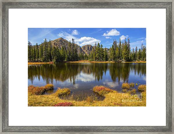 View Towards Notch Mountain Framed Print