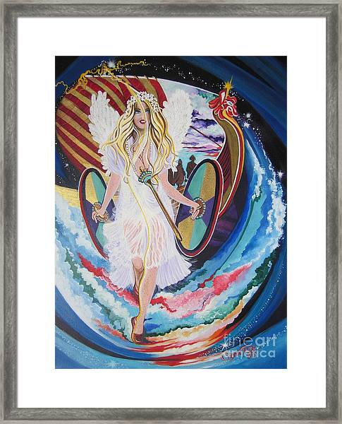 Blaa Kattproduksjoner   Welcomes Viking Goddess  To  Egypt Framed Print