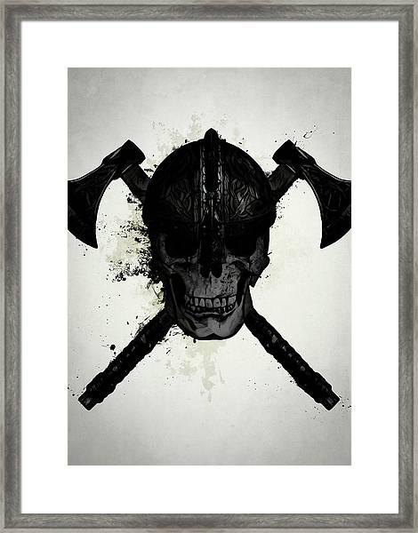Viking Skull Framed Print