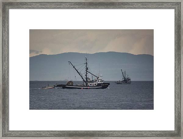 Viking Sunrise Framed Print