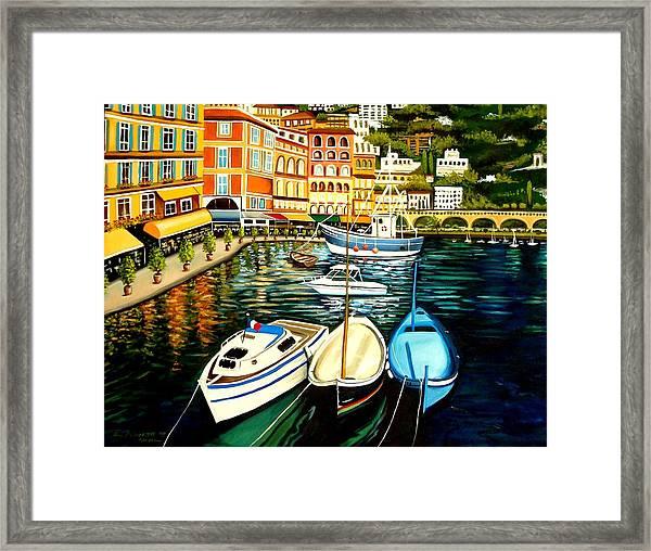 Villa Franche Framed Print