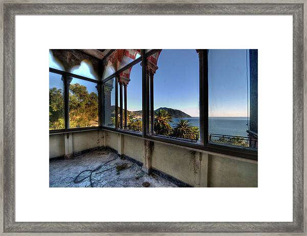 Villa Of Windows On The Sea - Villa Delle Finestre Sul Mare II Framed Print