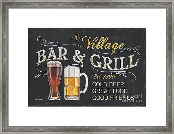 Village Bar And Grill Framed Print