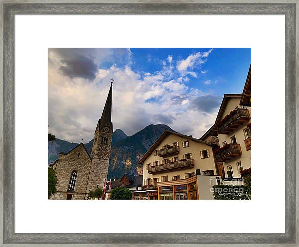 Village Hallstatt Framed Print