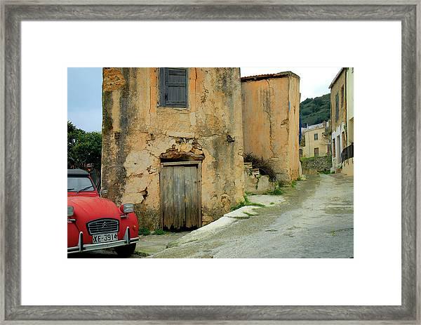Village In Crete Island Framed Print