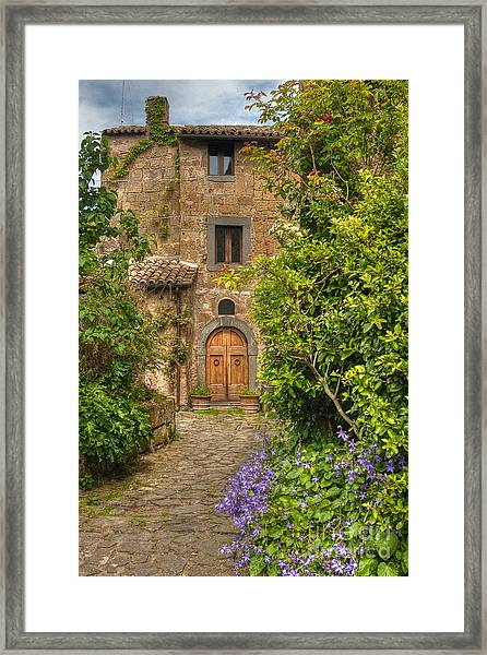 Village Lane Framed Print