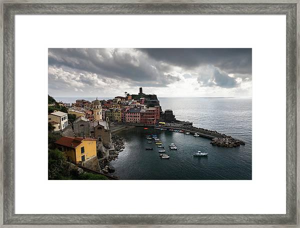 Vernazza Village, Italy  Framed Print