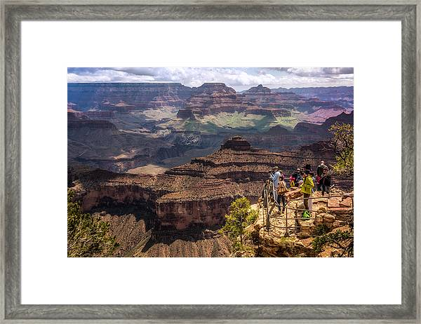 Framed Print featuring the photograph Village Rim Trail by Claudia Abbott