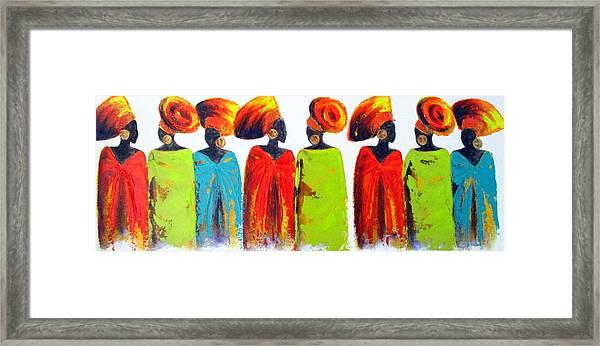 Village Talk Framed Print