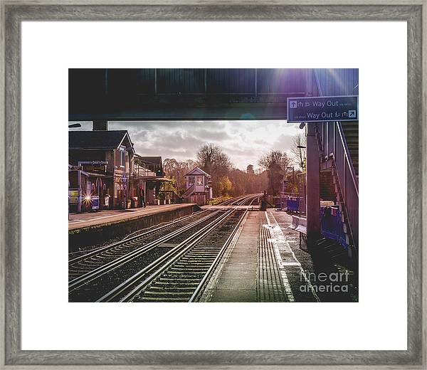The Village Train Station Framed Print