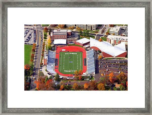 Villanova Stadium 800 East Lancaster Avenue Jake Nevin Fieldhouse Villanova Pa 19085  Framed Print by Duncan Pearson