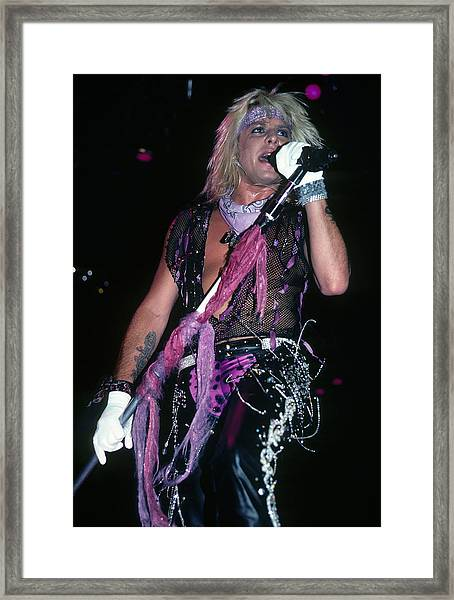Vince Neil Of Motley Crue Framed Print