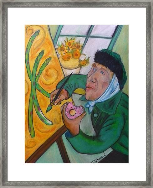 Vincent And The Asparagus Framed Print