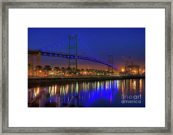 Vincent Thomas Bridge Framed Print